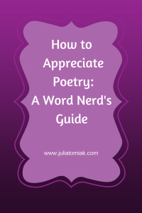 Appreicating Poetry
