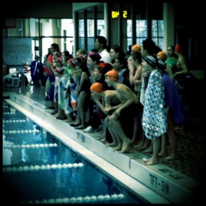 swimmers shouting