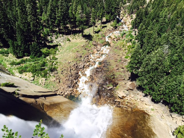 The view down Nevada Fall