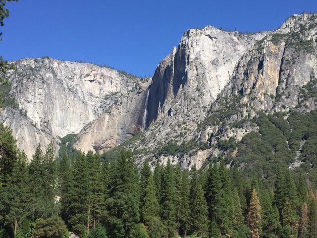 Yosemite Falls, as viewed from the Valley floor