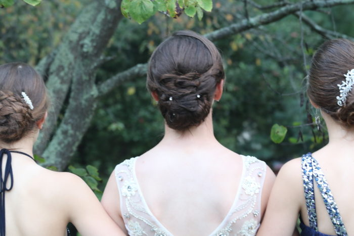 Homecoming hair... done by professionals or friends, it's gotta be fancy!