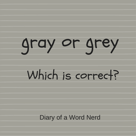 How to spell gray vs. grey