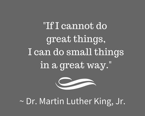 Martin Luther King Jr quote small things