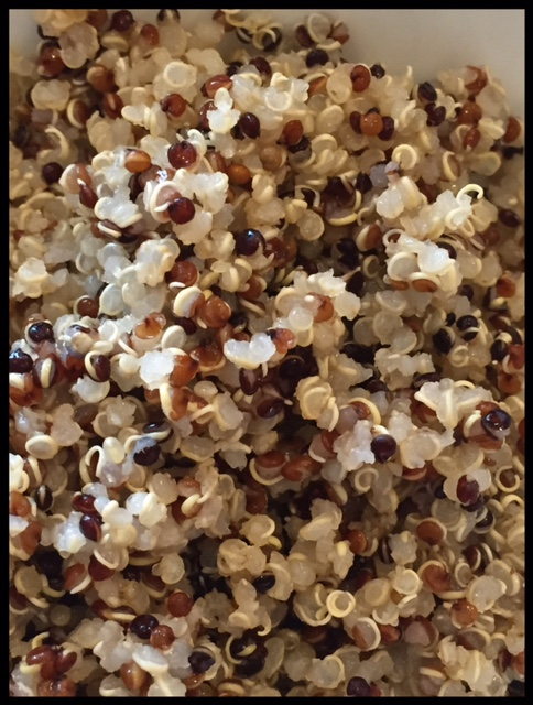 This is quinoa, a complete protein grain that is a lovely addition to any vegetarian diet.