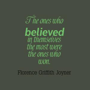 Running quote - believe